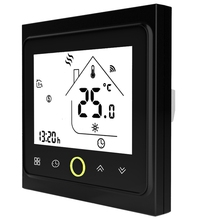 Wifi Thermostat Temperature Controller Lcd Press Screen Backlight For Electric Heating Works With Alexa Google Home 16A 16a touch screen lcd programmable thermostat temperature controller regulator room lcd floor heating thermostat with backlight
