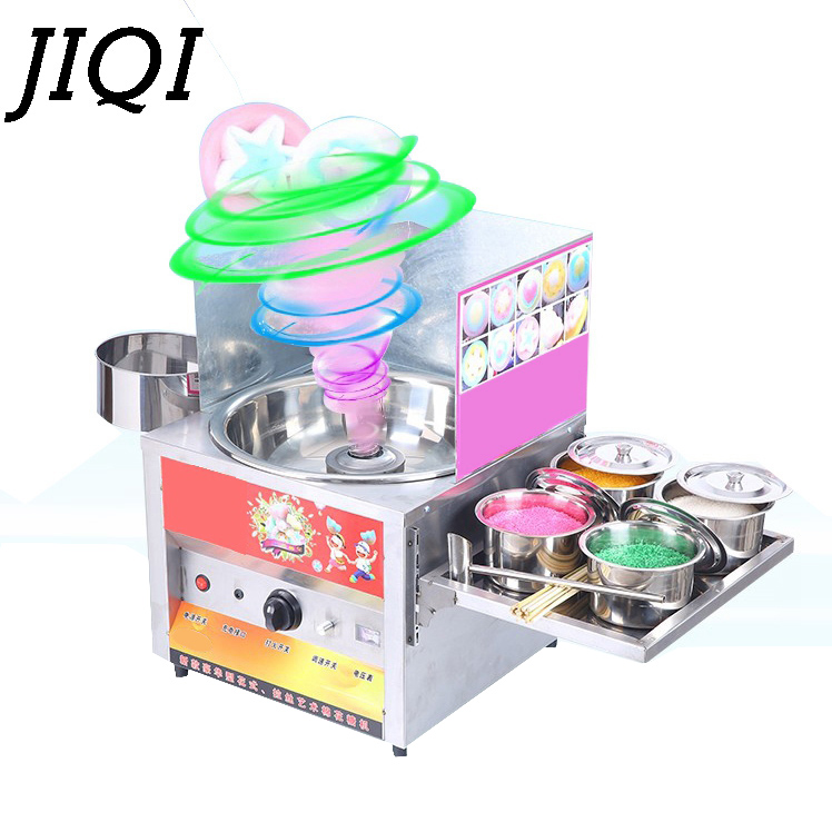 JIQI Commercial fancy gas use sweet cotton candy maker candyfloss cotton sugar floss machine snack equipment flower children kid fancy pants candy corn