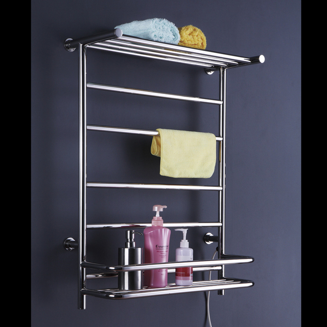 free shipping new stainless steel electric wall mounted towel warmer bathroom accessories racksheated - Bathroom Accessories Towel Rail
