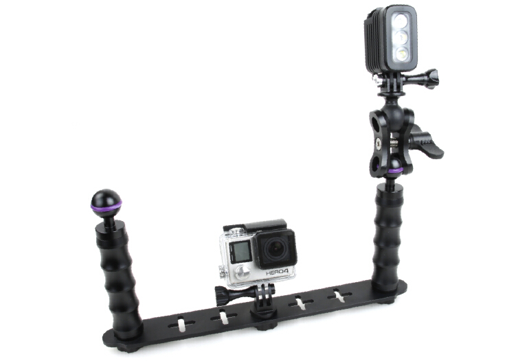 Handheld Selfie Monopod Diving Underwater Light Arm Aluminum Mount for GoPro 3/3+/4 5 Xiaoyi SJ4000 SJ5000 SJ6000 Action Camera