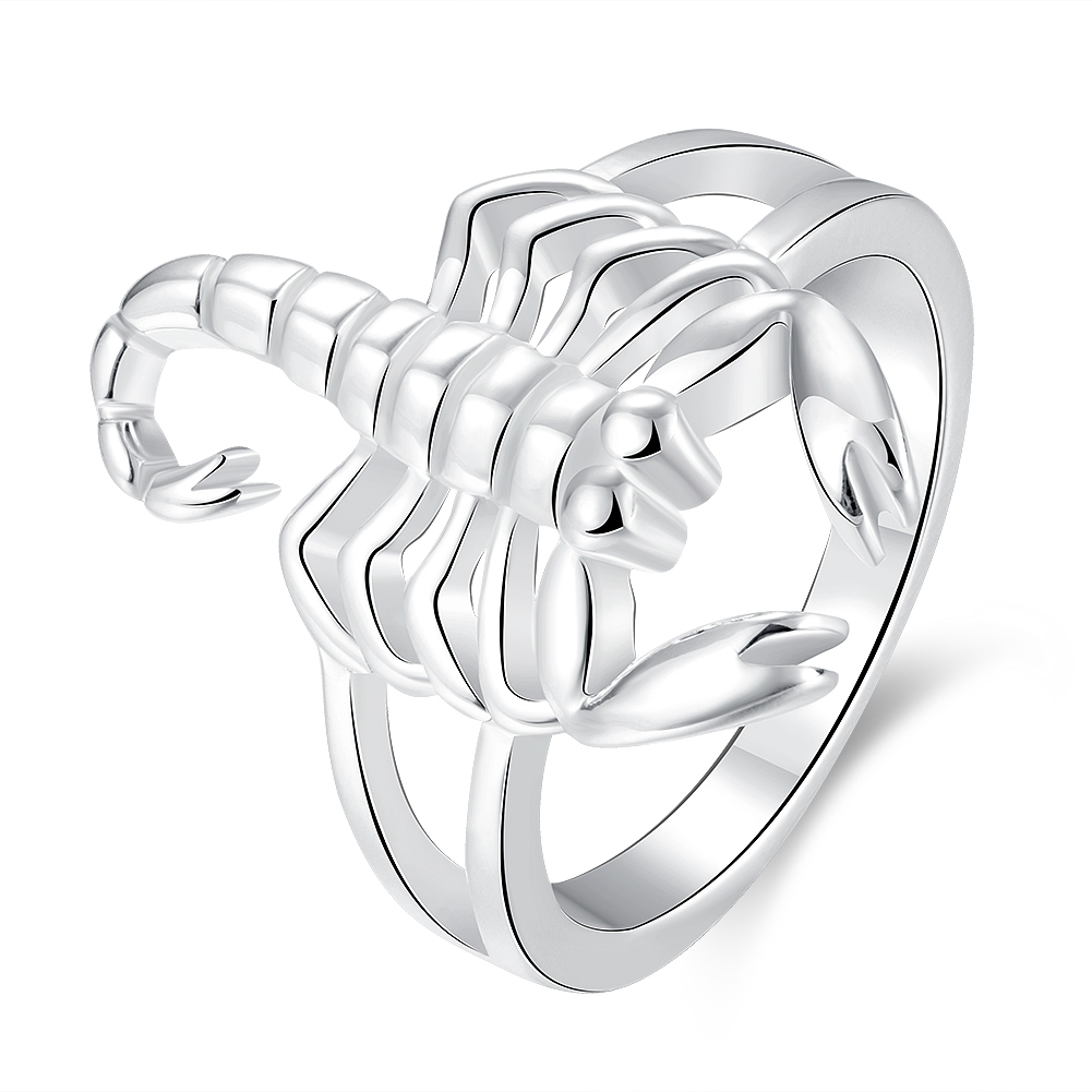Jewelry & Accessories Forceful Free Shipping Wholesale Silver-plated Ring,silver Fashion Jewelry,women&men Gift Domineering Scorpion Finger Rings Top Quality