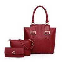 Bags female 2018 new tidal version women composite bag large capacity mother bag handbag single shoulder bag bucket 3 pcs/set