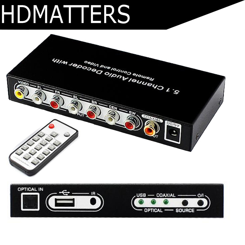 5,1 CH цифровой аудио декодер конвертер DTS/AC3 цифровой аудио декодер с USB функции СМИ