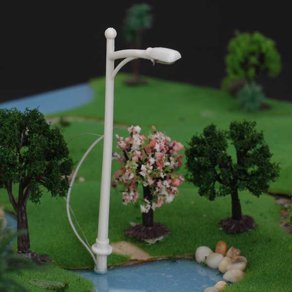 20 Pcs Rumah Boneka Rumah Boneka Miniatur Skala 1/150 6 V 1 W Model Single Kepala Lampu Jalan Tiang Lampu Architectura Dekorasi akses