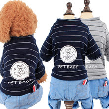Spring Dog Clothes For Small Dog Coats Jackets 2019 Popular 100% Cotton Overalls For Puppy Outfits Chihuahua Dog Pet Clothes S/M недорого