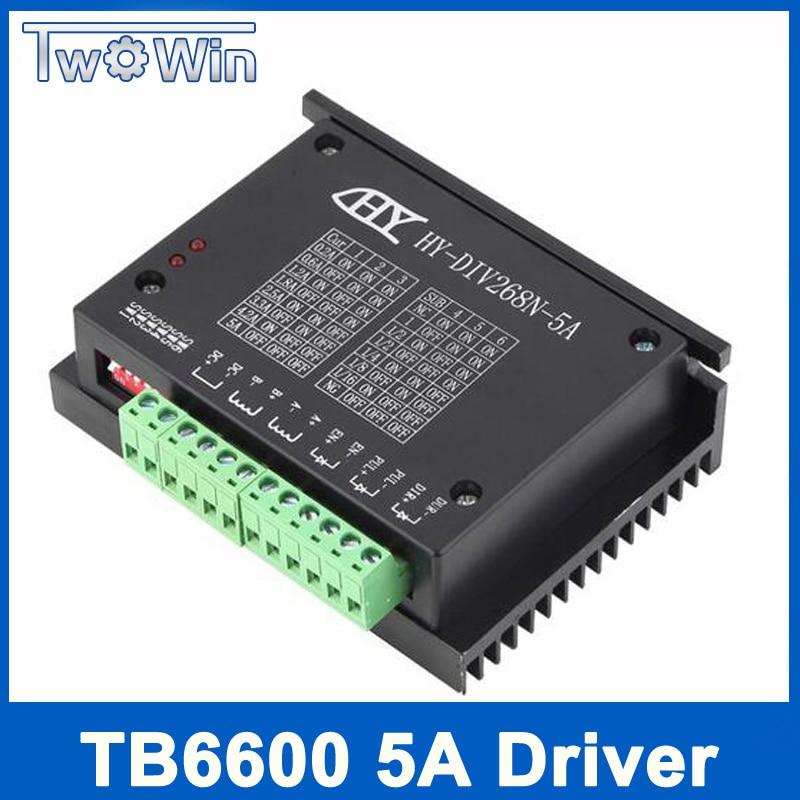 TB6600 0,2-5A CNC controlador de motor paso a paso nema 17,23 tb6600 solo ejes de dos fases del motor paso a paso híbrido cnc