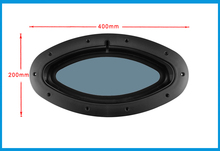 Marine Boat Yacht RV Oval Shape Porthole ABS Plastic Oval Hatches Port Lights Replacement Windows Port Hole Opening Portlight