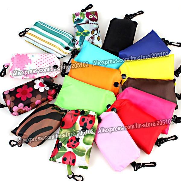 Pocket square Shopping bag,Environment Eco-friendly folding reusable Portable Shoulder handle Bag Polyester for Travel Grocery