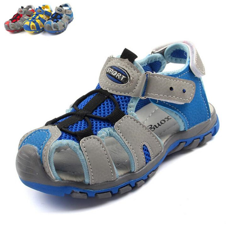2018 New Arrival Boys Sandals Children Sandals Closed Toe Sandals for Little and Big Sport Kids Summe Shoes Eur Size 25-36