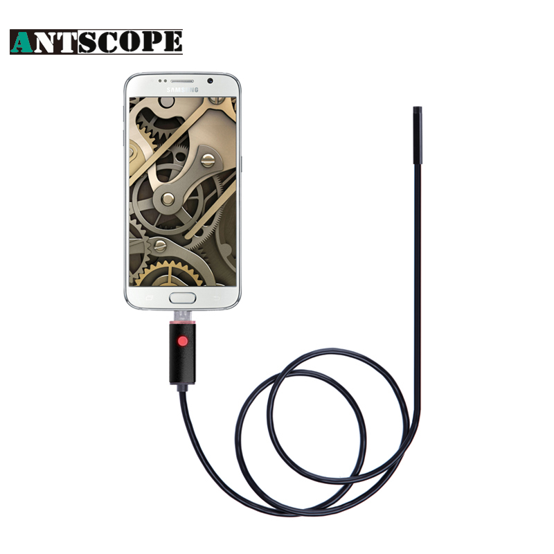 Antscope 7mm 2M Android Endoscope Inspection USB Camera Endoscopio Mini USB Snake Camera Endoscope Android Endoskop antscope wholesale 7mm lens mini usb android endoscope camera waterproof snake tube 2m inspection usb borescope endoskop camera