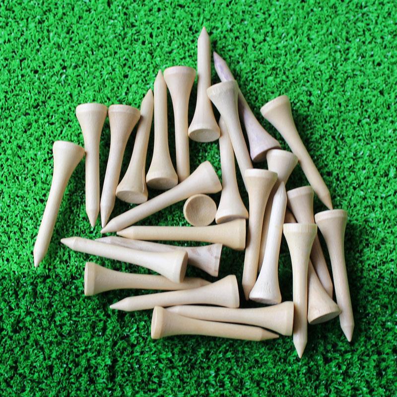 50pcs/lot 42mm Golf Ball Wood Tees Wooden  Golf Accessories Wholesale