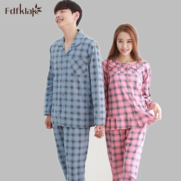 Korean style elegant Women Cotton Pajamas couple sleep set home wear  clothes pajamas for girls plus 4eb52d81d