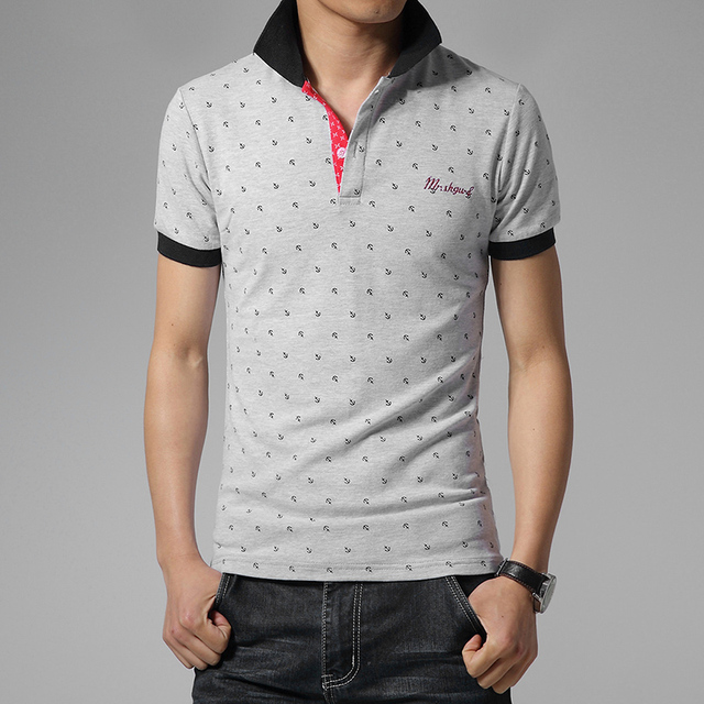 Hot sale 2016 summer Fashion Brand Male new men's Casual clothing short  sleeved polo shirt new cotton Lycra modal M-3XL