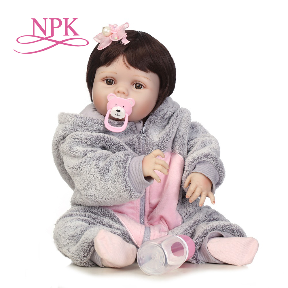 NPK 56 cm réaliste bebe bonecas pleine silicone bébé fille avec belle stress meilleurs enfants cadeau silicone reborn bébé poupées-in Poupées from Jeux et loisirs    1
