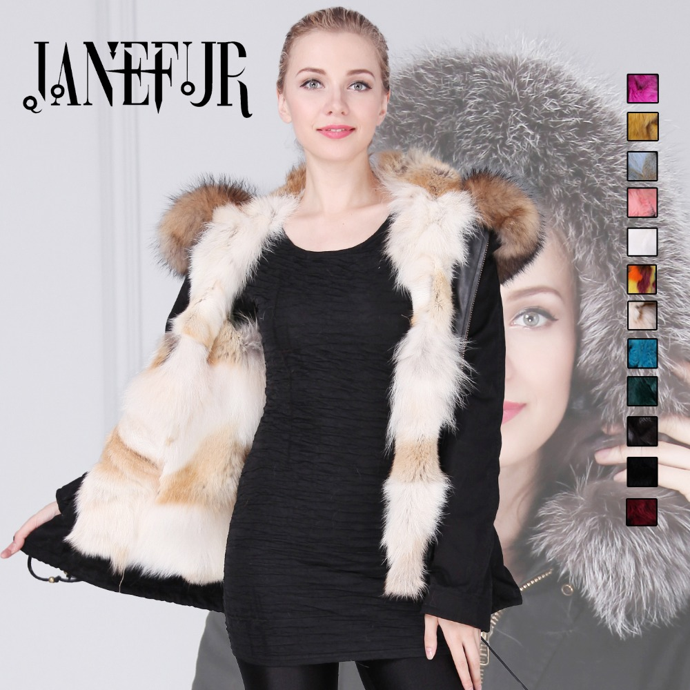 UK fashion winter black outwear 2016 new natural real fox fur lined parka with natural big size raccoon fur collar trim suck uk