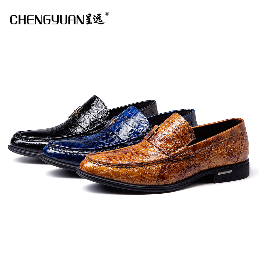 Men flats luxury leather shoes casual dress shoe men comfortable black blue  yellow large size Wedding Shoes CY713in Formal Shoes from Shoes on