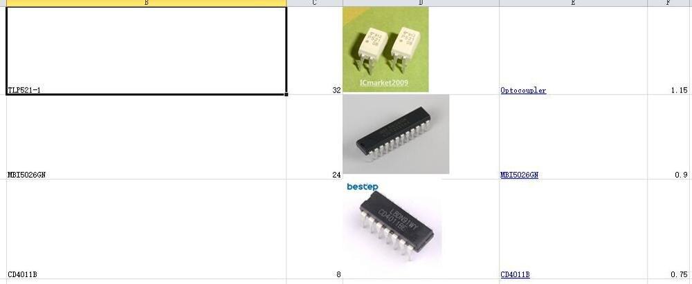 Um lote de circuitos integrados