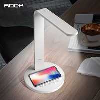 ROCK Smart Qi Wireless Charger Desktop Lamp Adjustable Touch Control Table Lamp With Qi Charger Pad
