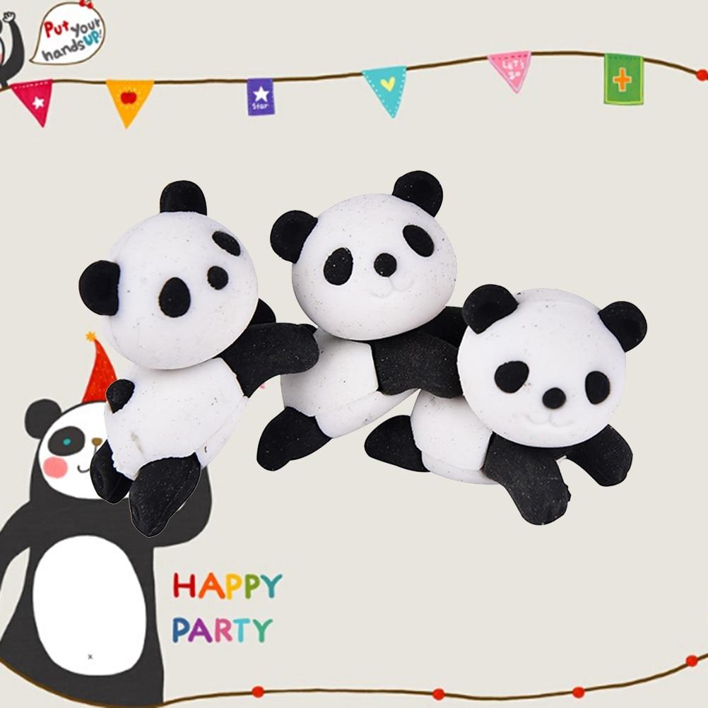 1pc New Style Cute Panda Rubber Eraser Lovely For Kids Kawaii Cartoon Animal Eraser Students Creative Item Gift School Supplies