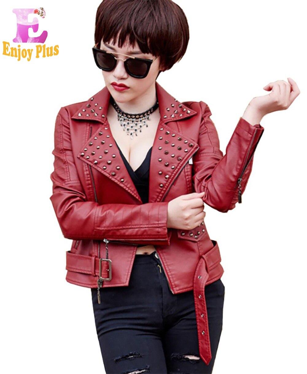 S M L XL XXL peito 86-102 cm de couro falso fresco novo outono PU jaqueta curta preto branco mulheres de moto 2017 moda pico