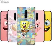 SpongeBob Patrick Star Silicone Phone Case for Oneplus 7 7 Pro 6 6T 5T Black Case for Oneplus 7 7Pro Soft Cover Shell