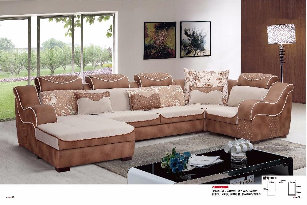 captivating shape sofa living room sets | LDM3038 Modern living room fabric sofa U shape sectional ...