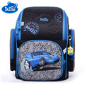 Fábrica famosa marca Delune niños de la escuela primaria mochila niños 3D coches mochila niños niñas impermeable ortopédicos bolsas de la escuela