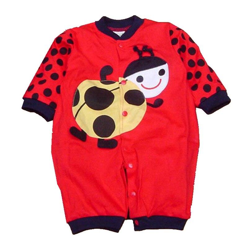 Spring 2016 Red Ladybug Baby Rompers Body Bebe Jumpsuit Roupas Infantis Menina Macacao Newborn Baby Girl Clothes Infant Clothing