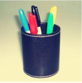 Prédiction de stylo de couleur-porte-stylo en cuir tours de magie magicien professionnel gros plan Illusion Gimmick Prop mentalisme