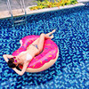 Women Large Donuts Swimming Ring Pool Floats for Adult Doughnut Pool Inflatable Donut Swim inflatable Circle Ring life buoy kids