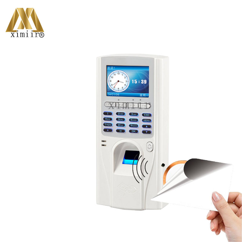 ZK XM33 Biometric Fingerprint Access Control With 13.56 MFIC Card Reader TCP/IP Fingerprint And Time Attendance Free Shipping zk tcp ip wifi network wiegand reader fingerprint reader biometric access controller