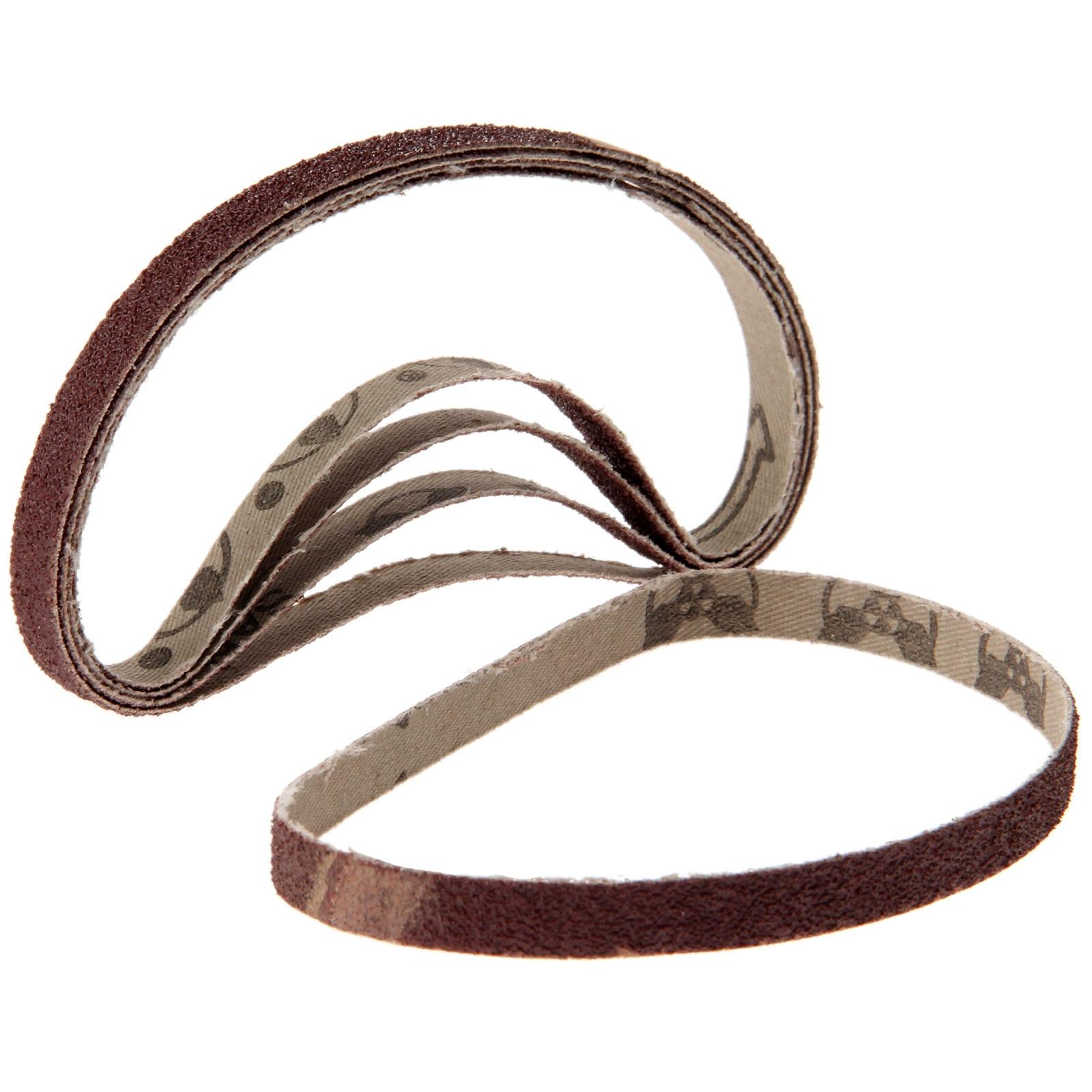 5Pcs Dremel Accessories 10x330mm Abrasive Sanding Belt Grit 60 Oxide Belt Sander For Grinding Polishing Sander Tool