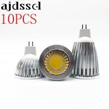 10X LED COB Spotlight Lampada Led MR16 GU5.3 COB 6w 9w 12w Dimmable Led Cob bulbs Warm /CoolWhite MR16 12V Bulb Lamp GU5.3 220V