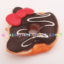 Kawaii Sprinkles Kitty Donut Squishy Slow Rising Jumbo Original Toast Pendant Straps Toy