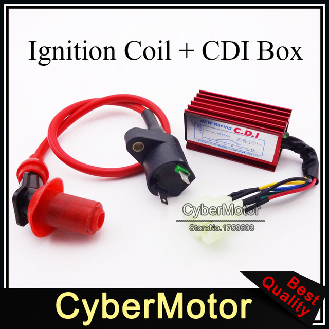 red racing ignition coil 6 pins wires ac cdi box for chinese gy6 rh aliexpress com chinese cdi box wiring 110Cc Mini Chopper Wiring Diagram