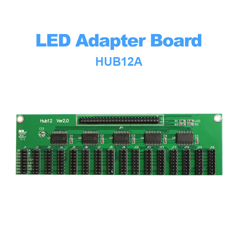 Hub12 adapter board with 8*hub12 ports LED controller Conversion card adapter p10 led screen display module card thumbnail