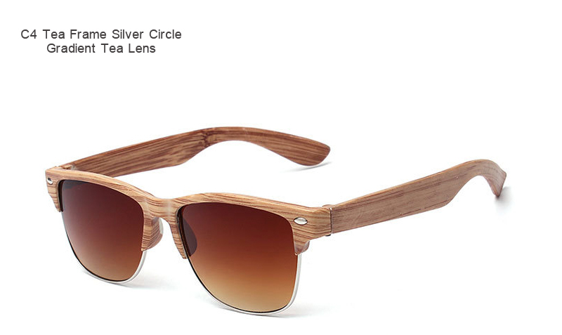 ARTORIGIN Half Frame Wood Sunglasses Women Men Wooden Glasses Rivet Brand Designer Eyewear Oculos De Sol  AT014