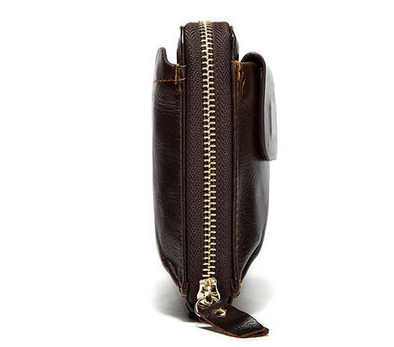 Men of money baotou layer leather hand bag long leather wallet-in Wallets from Luggage & Bags    3