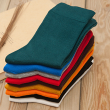 Socks Man Colored Bamboo Fiber Mid-calf Length Sock Casual Man Socks Cotton High Quality 20 pairs Lot Men Sock Men's Clothing