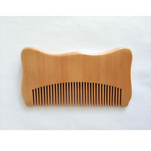 Natural Peach Wood Fine Tooth Comb For Men Beard Care For Wo