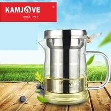Freies verschiffen kamjove neue elegant tasse tee-tasse blume tee topf hitzebeständigem glas tee-set brüheinrichtung glas teekanne kaffee topf