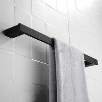 24 polegada barra de toalha banho único toalheiro fixado na parede matte black toalheiro toalheiro aço inoxidável