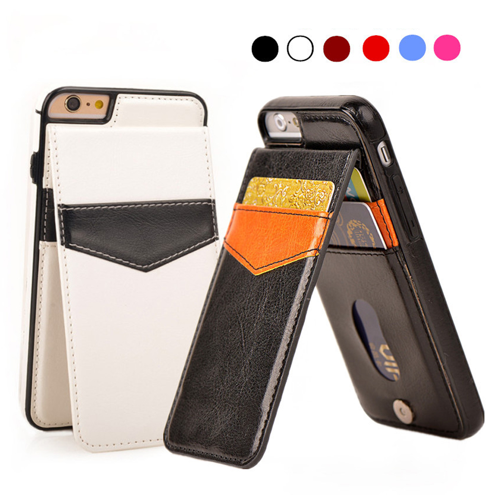 For iPhone 7 Wallet Case Shockproof Magnetic PU Leather Cards Pocket Stand Phone Cases Cover Shell For iPhone 6 6s 7 Plus
