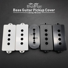 2pcs 4 String Bass Guitar Pickup Cover Matt/Glad PB Bass Guitarra Pickup Cover Spoel Violao Vervangende Onderdelen(China)