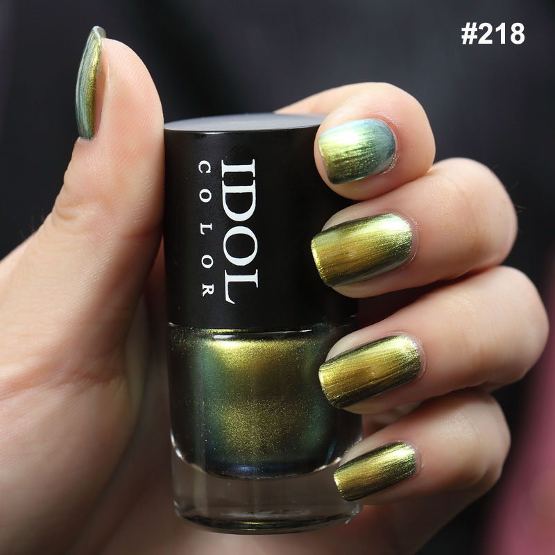 IDOL COLOR Chameleon Series Nail Vernis Quick Dry And Smooth Varnish Chameleon Effect Shimmer Polish Nail Art Painting