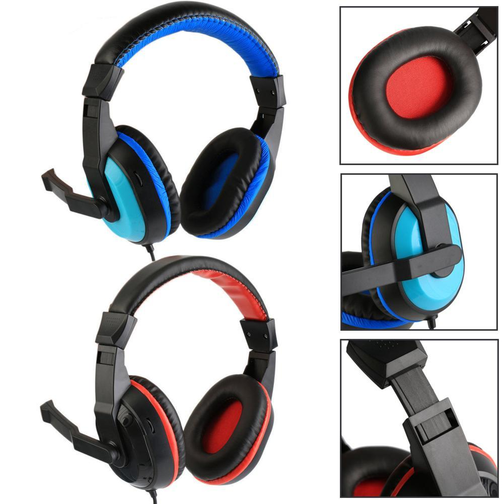 Adjustable 3.5mm Sport Headphone Game Gaming Headphones Headset  Stereo with Mic Wired for Laptop Computer