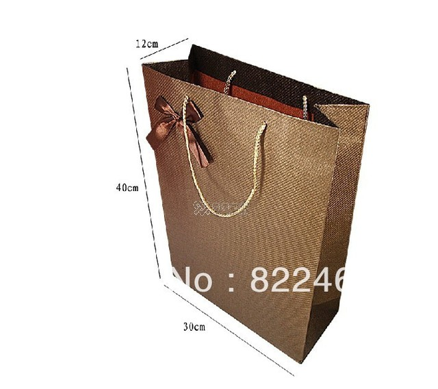 40*30*12CM More direct vertical version of coffee swirls specialty paper gift bag paper bags wholesale handbags