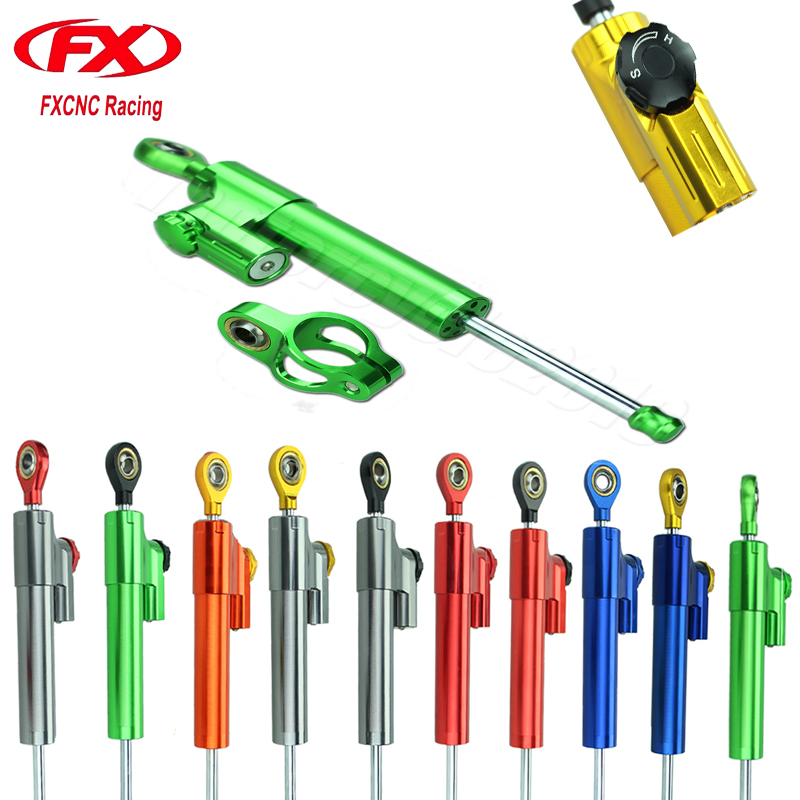 FXCNC Aluminum Adjustable Universal Motorcycle Steering Damper Stabilizer For Yamaha YZF R6 2006-2015 07 08 09 10 11 12 13 14 15 steering damper set for yamaha yzf r6 06 07 08 09 10 11 12 13 14 w bracket kits