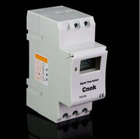 1 X DIN RAIL DIGITAL PROGRAMMABLE Timer 12V 16A TIME RELAY