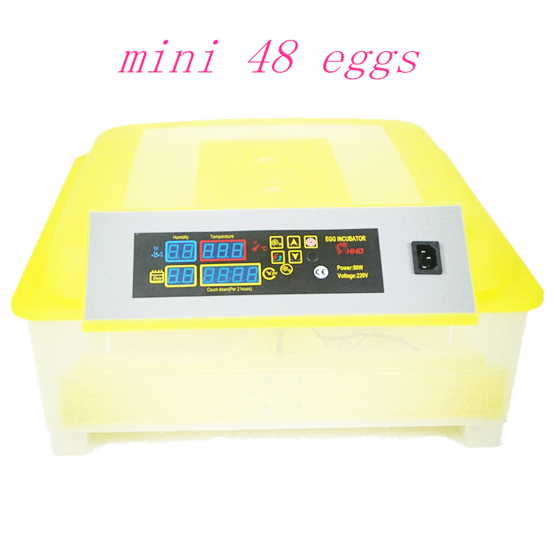 New Design 48 Eggs Incubator Fully Automatic Turner Poultry Chicken Duck Geese Egg Incubator free shipping to eu good quality digital 24 eggs incubator automatic chicken duck egg turner